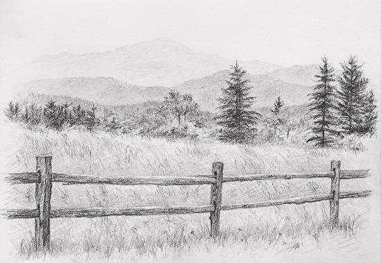 Delighful Fence Post Drawing I In Inspiration