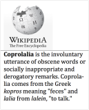 Coprolalia